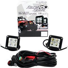 Race Sport Inc. RSHD20W3X3-2 3IN x 3IN 20-Watt 4-LED Cube Spotlights