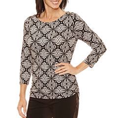 Lark Lane 3/4 Sleeve Scoop Neck T-Shirt