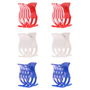 Capelli of New York 6-pc. Stars & Stripes Hair Clips