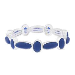 Liz Claiborne® Blue and Silver-Tone Stretch Bracelet