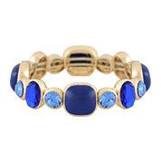 Monet® Blue and Gold-Tone Stretch Bracelet