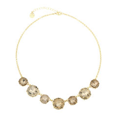 Monet® Brown and Gold-Tone Collar Necklace