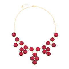 Monet® 1820 Drama Garnet & Gold-Tone Necklace