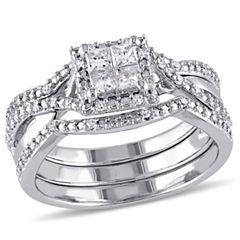 Diamond Sterling Silver Bridal Set 20