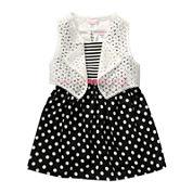 Youngland® 2-pc. Vest and Belted Skater Dress Set - Toddler Girls 2t-4t