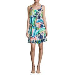 Robbie Bee Sleeveless A-Line Dress-Petites