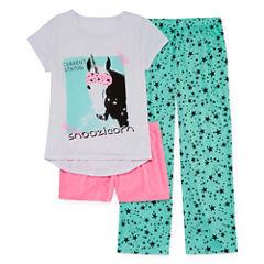 Total Girl 3-pc. Pajama Set Girls