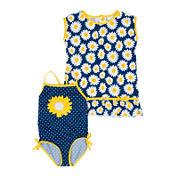 Wippette 2-pc. Daisy Swimsuit Set - Baby Girls newborn-24m