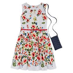 Knit Works Floral Belted Dress - Girls' 7-16