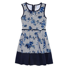 Knit Works Belted Box Pleat Skater Dress - Girls' 7-16