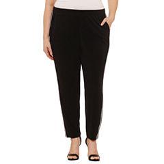 Boutique + Knit Jogger Pants-Plus