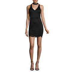 My Michelle Sleeveless Lace Bodycon Dress-Juniors