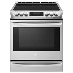 LG 6.3 cu ft Electric Slide-In Range with Warming Drawer and Induction Cooktop