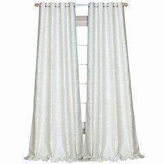 Laura Ashley® Florence Rod-Pocket 2-Pack Curtain Panels