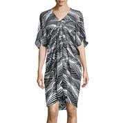 Worthington® Elbow-Sleeve Drape Dress