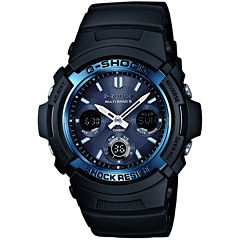 Casio® G-Shock Mens Multi-Band 6-Atomic Blue Watch AWGM100A-1A