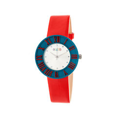 Crayo Womens  Prestige Red Strap Watch Cracr3107
