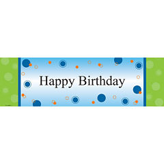 Party Birthday Banner Standard 18