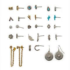 Arizona 15-pc. Multi Color Earring Sets
