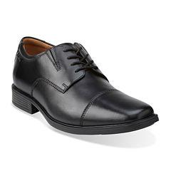 Clarks® Tilden Mens Leather Cap-Toe Dress Shoes