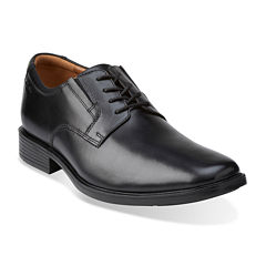 Clarks® Tilden Mens Leather Plain-Toe Dress Shoes