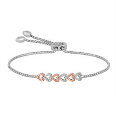 Rhythm and Muse 1/10 CT. T.W. Diamond Sterling Silver with 14K Gold Bracelet