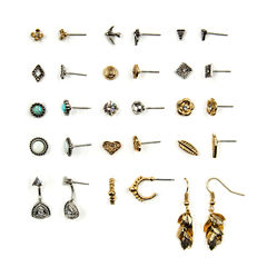 Arizona 15-pc. Clear Earring Sets