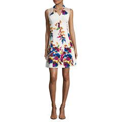 Spense Sleeveless Fit & Flare Dress