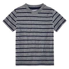 Arizona Boys Short-Sleeve Stripe T-Shirt - Preschool 4-7