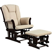Graves Chenille Glider with Ottoman