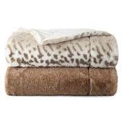 Liz Claiborne Serengeti Luxury Faux Fur Throw