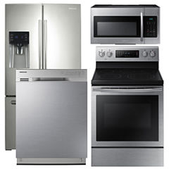 Samsung 4-pc. Electric Kitchen Package- Stainless Steel
