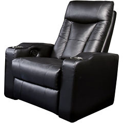 Dallas Home Theater Right Faux-Leather Recliner