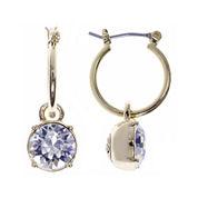 Gloria Vanderbilt® Gold-Tone Crystal Click-It Hoop Earrings