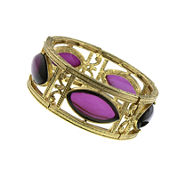 1928® Jewelry Amethyst Gold-Tone Stretch Bracelet