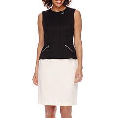 Isabella Vest and Skirt Suit Set - Petite