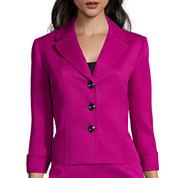 Chelsea Rose 3/4-Sleeve Cuffed Textured Jacket