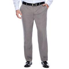 Savane® Micro Mélange Flat-Front Dress Pants - Big & Tall