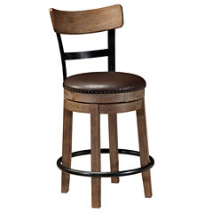 Signature Design by Ashley® Pinnadel Upholstered Swivel Barstool