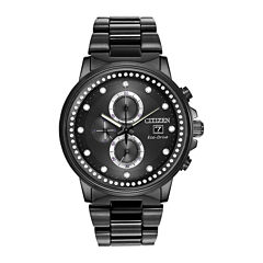 Citizen® Eco-Drive® Nighthawk Mens Black Ion Chronograph Watch FB3005-55E