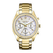 Caravelle New York® Womens Gold-Tone Chronograph Watch 44L114