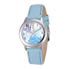 Disney Cinderella Kids Blue Leather Strap Watch