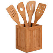 Honey-Can-Do® Bamboo Utensils and Caddy