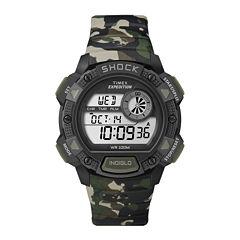 Timex® Mens Shock-Resistant Sport Chronograph Watch