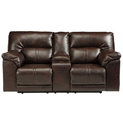 Signature Design by Ashley® Barrettsville Double-Reclining Loveseat with Console