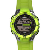 Dakota Lime Green Pedometer Watch 36827