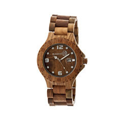 Earth Wood Raywood Olive Bracelet Watch With Date Ethew1704