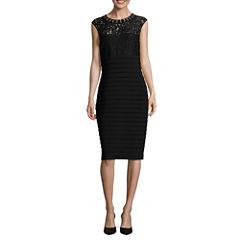 Scarlett Sleeveless Beaded Sheath Dress-Talls