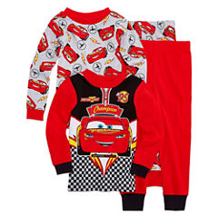 4-pc. Pajama Cars Toddler