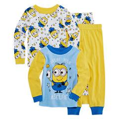 4 PC Pajama Minion- Boys Toddler